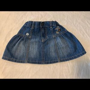Old Navy 3T Denim Skirt w Embroidery
